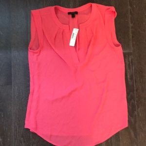 J Crew Capped sleeve/sleeveless top